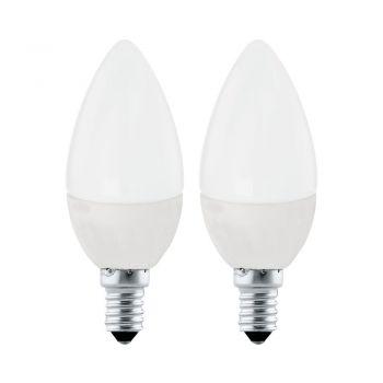 Becuri LED Lm-E14-Led Kerze 4W 4000K 2 Stk Eglo 10793