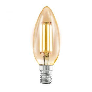 Becuri LED Bec Led E14  C37  4W  Chihlimbar 2200K Eglo 11557