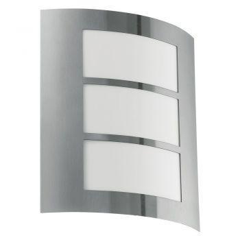 Corpuri de iluminat exterior Aplica Exterior 1 Bec  E27  Inox 'City' Eglo 88139