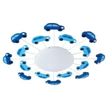 Corpuri iluminat copii Aplica - Plafoniera 1 Bec E27 Albastru-A Eglo 92146