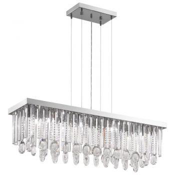 Corpuri iluminat Crystal Design Lustra 11 Bec1 G9 Crom-Cristal 'Calaonda Eglo 93423