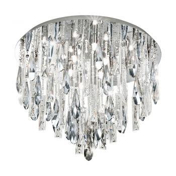 Corpuri iluminat Crystal Design Plafoniera 8 Becuri G9 Crom-Cristal 'Cal Eglo 93433