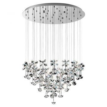 Corpuri iluminat Crystal Design Lustra Led Crom-Cristal 'PianoPoli- Eglo 93661