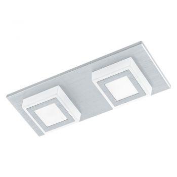 Aplice iluminat Aplica - Plafoniera 2 Becuri Led Arginti Eglo 94506
