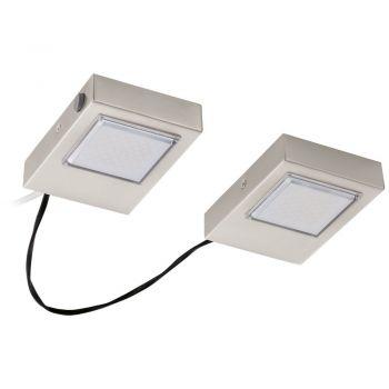 Corpuri de iluminat Bucatarie Set 2 Spoturi Led Aplicate Nichel Mat 'L Eglo 94516