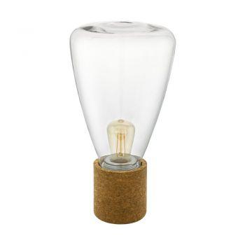 Veioze Tl-1 E27 Kork Glas Klar 'Olival' Eglo 97208