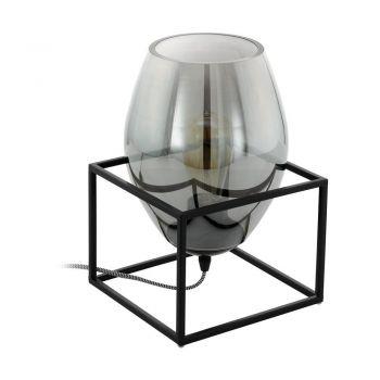 Veioze Tl-1 E27 Schwarz-Rauchglas 'Olival 1' Eglo 97209