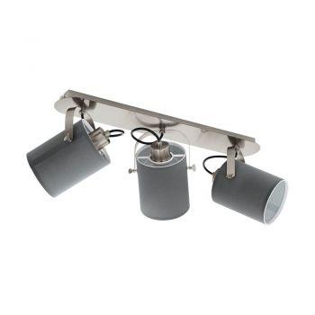 Spoturi iluminat Balken-3 E27 Nickel-M-Grau 'Vilabate' Eglo 98141
