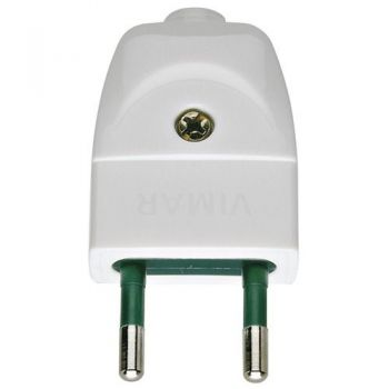 Stecher 2P 10A S10 axial plug white vimar Plugs and socket outlets 00200-B