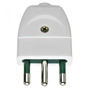 Stecher 2P-plus-E 16A S17 axial plug white vimar Plugs and socket outlets 00202-B