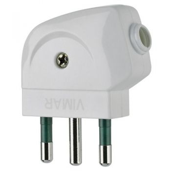 Stecher 2P-plus-E 16A S17 90?-plug white vimar Plugs and socket outlets 00212-B