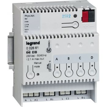 Legrand Knx Onoff Din Control 4 Out 8A Legrand 002661