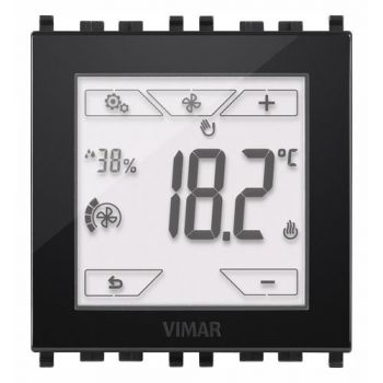 KNX touch-thermostat 2M black vimar Surface mounting equipments 02952