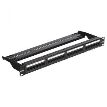 Patch panel - 24 Priza date RJ45 Cat5e UTP conn 1u vimar Net Safe 03024-4