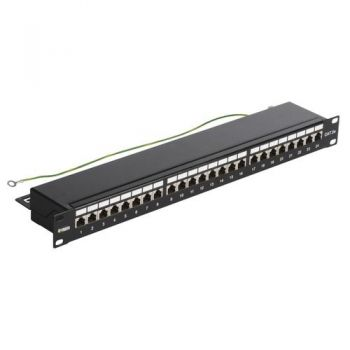 Patch panel - 24 Priza date RJ45 Cat5e FTP conn 1u vimar Net Safe 03024-5