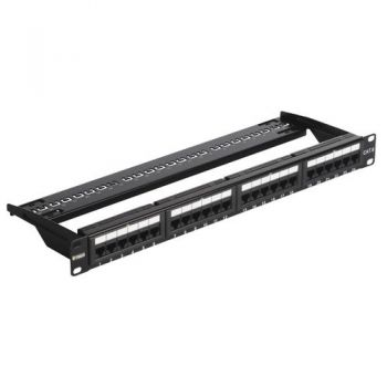 Patch panel - 24 Priza date RJ45 Cat6 UTP conn 1u vimar Net Safe 03024-6