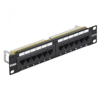 10 in organizer tray 12 Priza date RJ45 Cat6 UTP 1u vimar Net Safe 03303-3