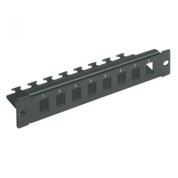 10 in organizer tray - 8 empty ports 1u vimar Net Safe 03303-E
