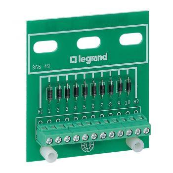 Accesorii Instalatii Platine 10 Diodes Legrand 036649