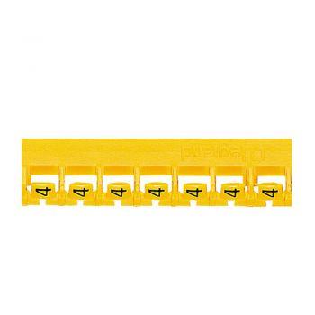 Etichetare Cablu Tablou Memocab Galben Cifra 4 Legrand 037806