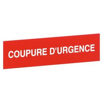 Toblou Emergenta Etiquette Coupure Durgence Legrand 038094