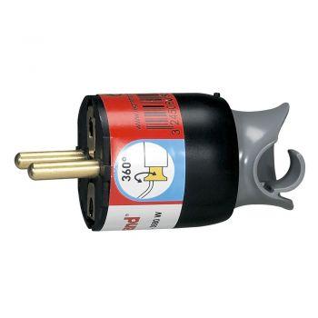 Stecher Priza Cupla Adaptor Fisa Orientare Cablu 2P-Plus-T 16A Neagra Legrand 050173