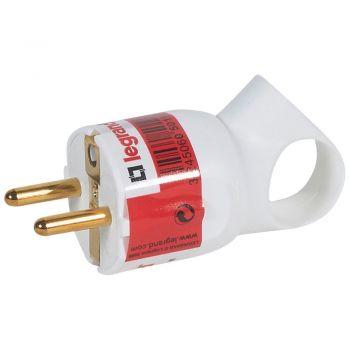 Stecher Priza Cupla Adaptor Fisa Cu Inel De Extragere 2P-Plus-T 16A Alba Si Eticheta Legrand 050190