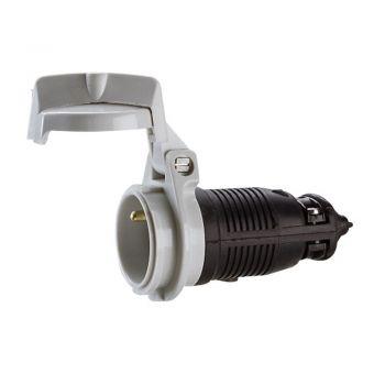 Stecher Priza Cupla Adaptor Prolong-2P-Plus-T 10-16A Caout-Noir Legrand 050249