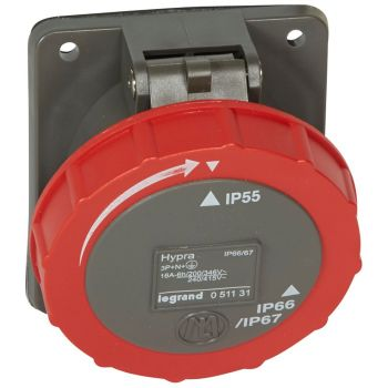 Prize Si Fise Industriale Hypra Hyp Priza Pano 380 16A 5C Ip66 Legrand 051131