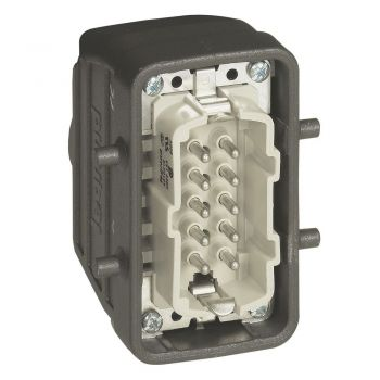 Conector Multipolar Industrial Capot Sortie Droite 10P Legrand 052631
