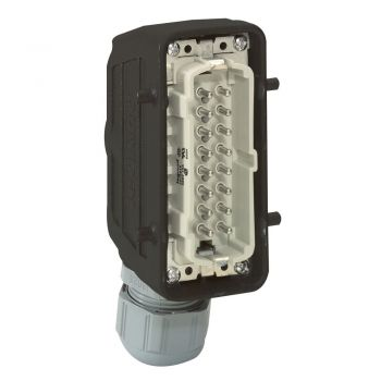 Conector Multipolar Industrial Capot Sortie Droite 16P Legrand 052632