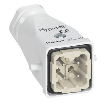 Conector Multipolar Industrial Capot Sortie Haute 10A 3P Legrand 052640