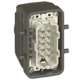 Conector Multipolar Industrial Capot Sortie Haute 16A 10P Legrand 052643