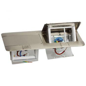 Doza Pardoseala Pop-Up Pop-Up Boxes Finisaj Otel Slefuit 6 Module Legrand 054022