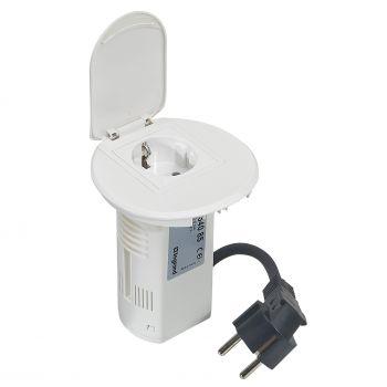 Echipament Birou Grommet Alb Echipat Priza 220V -Plus-Usb Phone Charger -Plus-2M Cablu Legrand 054085