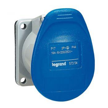 Prize Si Fise Industriale Tempra P17 Priza Tab 16A 250V 2P-Plus-E Legrand 057354