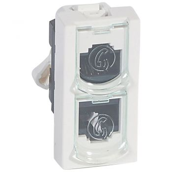 Legrand Mosaic Single Outlet Utp Splitter Tel-Tel Mosaic 1 Module Legrand 076535