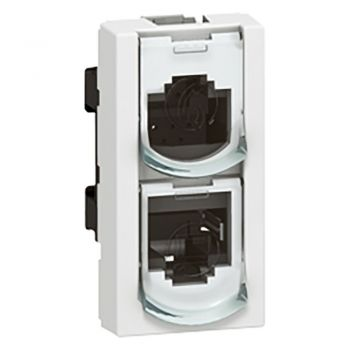Legrand Mosaic Single Outlet Ftp Splitter Eth-Eth Mosaic 1 Module Legrand 076538