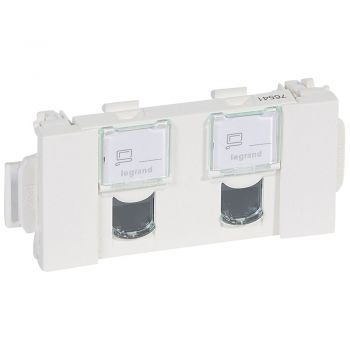 Legrand Mosaic Rj45 X2 Cat5E Utp Clip-Direct Mosaic Legrand 076541