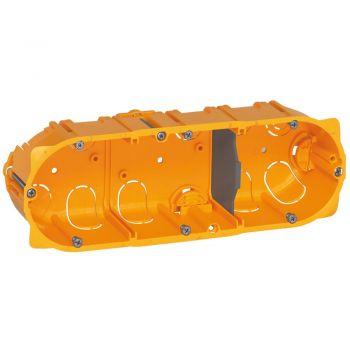 Doza Aparataj Batibox 3-Post Sau 6-8M Gips-Carton Adanc-40Mm Montaj Ingropat Legrand 080043