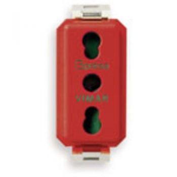 Priza 2P-plus-E 16A P17-11  outlet red vimar 8000 08145-R