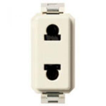 Priza 2P 15A USA-plus-EU outlet for 4,8mm plug vimar 8000 08192