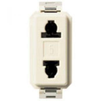 Priza 2P 15A USA-plus-EU outlet for 4,8mm plug vimar 8000 08194