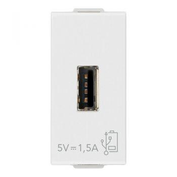 Priza Incarcator A-USB supply unit 5V 15A 1M white Vimar 09292
