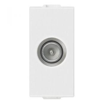 Priza TV-RD-SAT single conn-male outlet white Vimar 09300.01