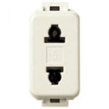 Priza 2P 15A USA-plus-EU outlet - 4,8mm vimar Linea 10194