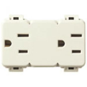 Two Priza 2P-plus-E 15A USA-plus-SASO outlets vimar Linea 10196