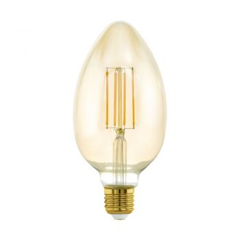 Bec dimabil EGLO 11836 - LED E27 4W 380lm 2200K D80mm - Lumina calda - Chihlimbar