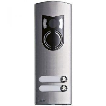 2M IK10 A-V cover Rama 2 buttons steel vimar ELVOX Door entry 1222