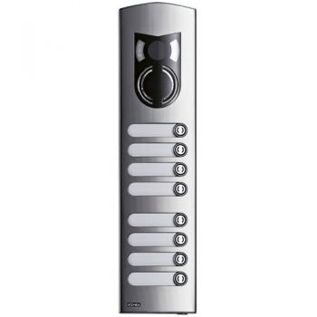 3M a-v steel cover Rama with 8 buttons vimar ELVOX Door entry 1238